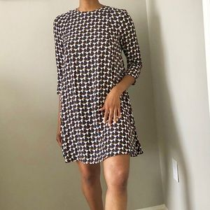 H&M Geometric Long Sleeve oversized Midi Dress